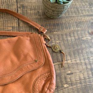 The Sak Boho leather brown crossbody bag